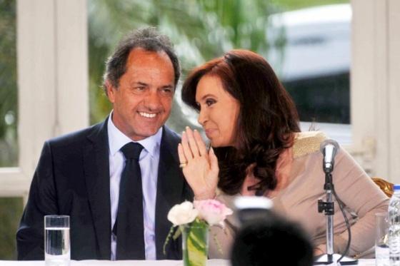 Cristina y Scioli