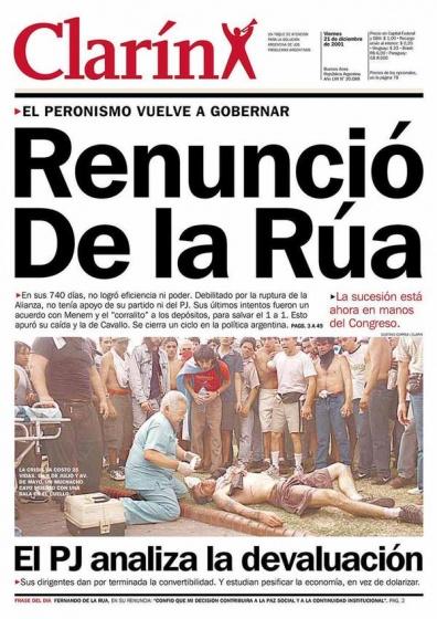 diciembre de La Rúa represión